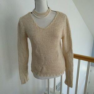 Ann Taylor beige vintage sweater size medium